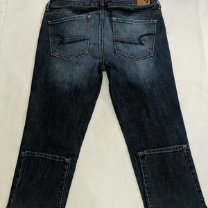AE Skinny Super Stretch Dark Jean sz 8S